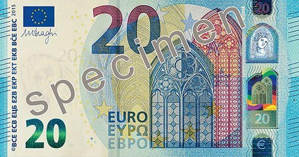 Uudet setelit näyttävät edestä tältä...