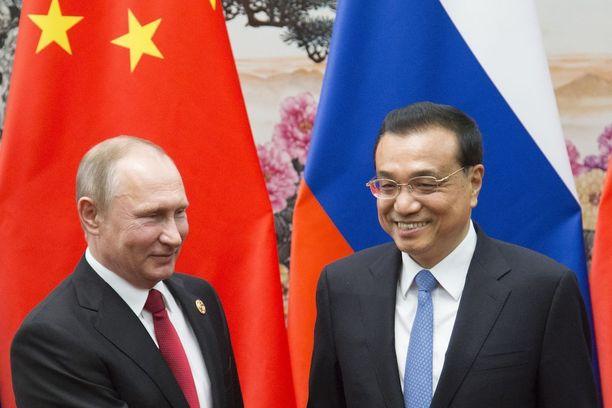 Presidentti Vladimir Putin tapasi Kiinassa pääministeri Li Keqiangin.