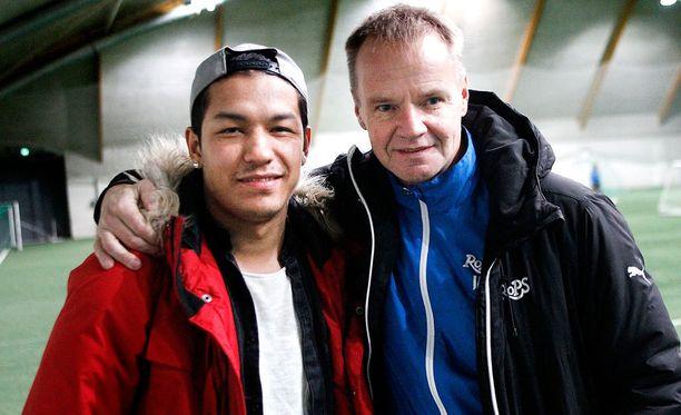 RoPS:n päävalmentaja Juha Malinen oli tyytyväinen Moshtagh Yaghoubin debyyttiin.