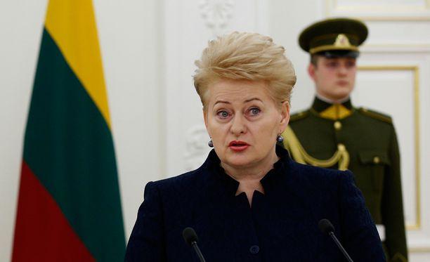 Asiasta ilmoitti presidentti Dalia Grybauskaite.