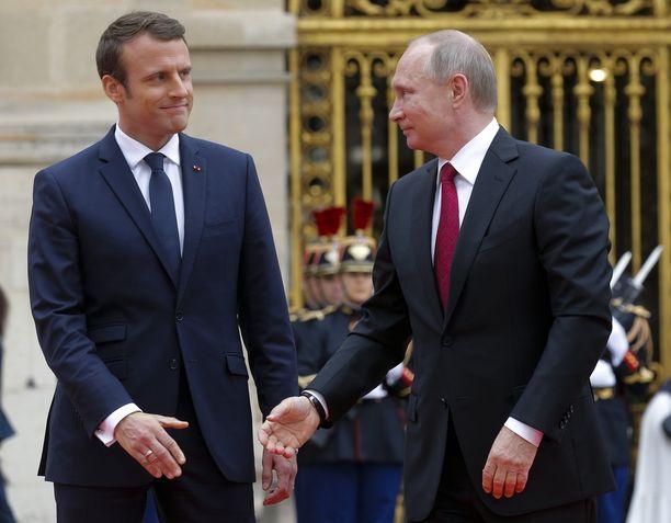 Macron ja Putin tapasivat tänään Ranskassa.