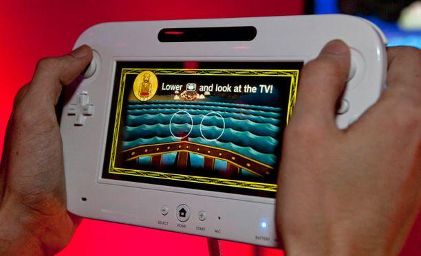 Wii U -pelikonsolin ohjainta voi käyttää myös television kaukosäätimenä.