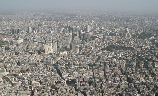 Kuvassa Damaskoksen kaupunki.