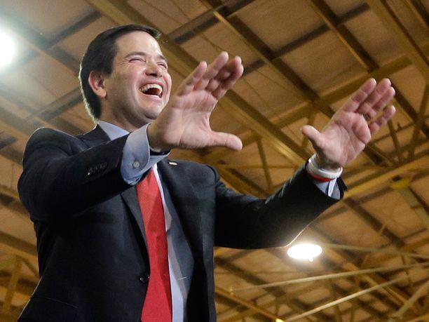 Marco Rubio saa huokaista helpotuksesta otettuaan ensimmäisen voittonsa.