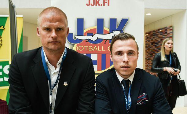 Juha Pasojan ja Tommi Karin JJK ei vieläkään ole ottanut avausvoittoaan.