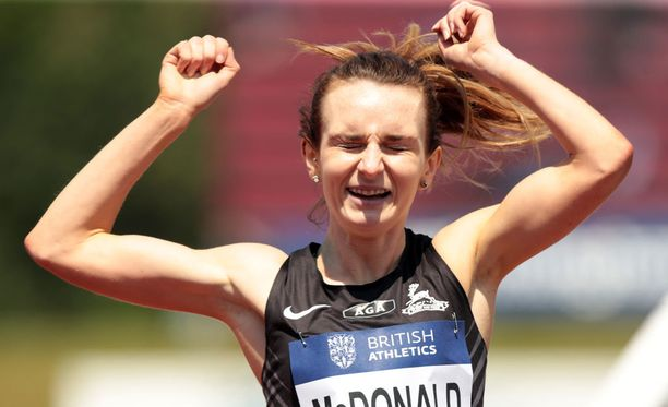 Sarah McDonald voitti 1500 metrin kilpailun Birminghamin Timanttiliigassa kesäkuussa.
