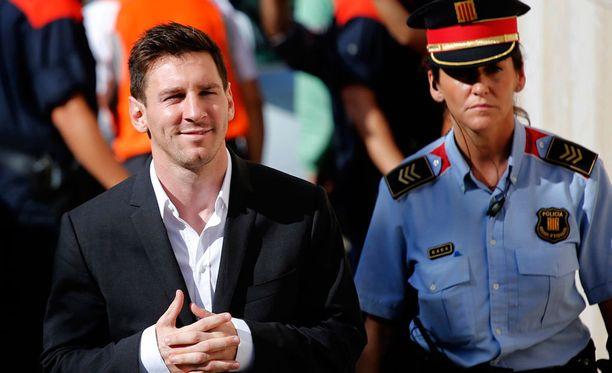 Lionel Messi saapui oikeuden eteen Gavassa, Barcelonan lähistöllä syyskuun lopussa.