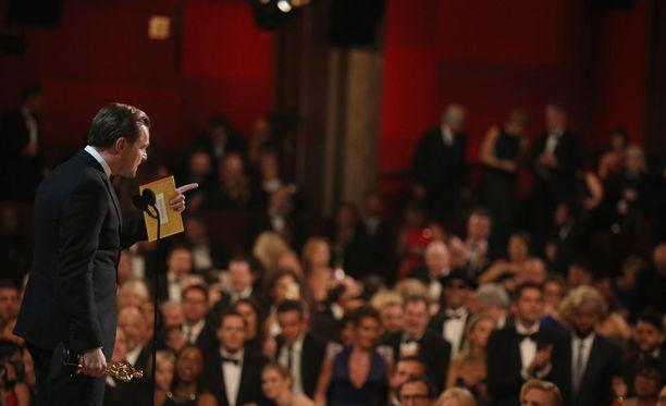 Leonardo DiCaprio painotti puheessaan planeetan parempaa tulevaisuutta.