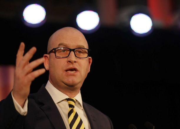 Paul Nuttall, 39, on oikeistopopulistisen Ukipin uusi johtaja.