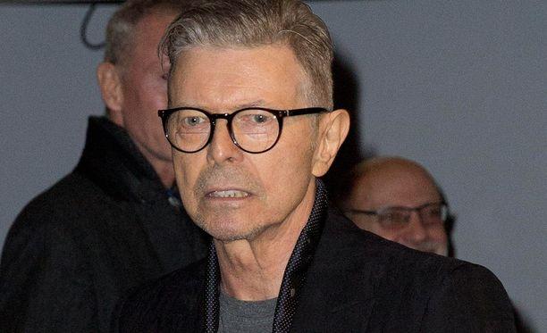 David Bowie osallistui joulukuussa 2015 Lazaruksen ensi-iltaan.