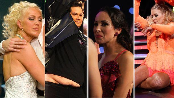 Tanssii tähtien kanssa -ohjelmaan on mahtunut vuosien varrella paljon dramatiikkaa.