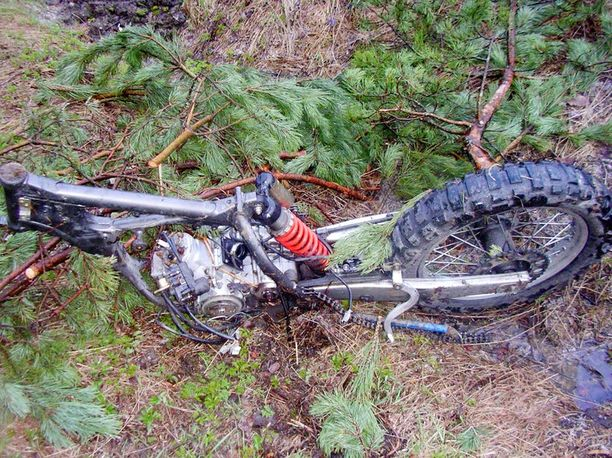 Tästä viime vuonna varastetusta pyörästä ei ollut jäljellä juuri muuta kuin runko, kun se löydettiin.
