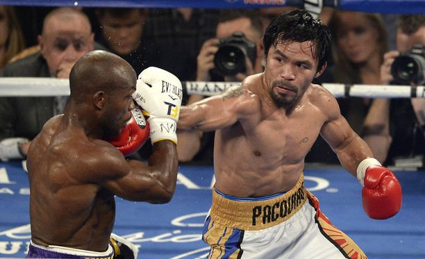 Manny Pacquiao on otellut ammattilaisurallaan 67 kertaa.