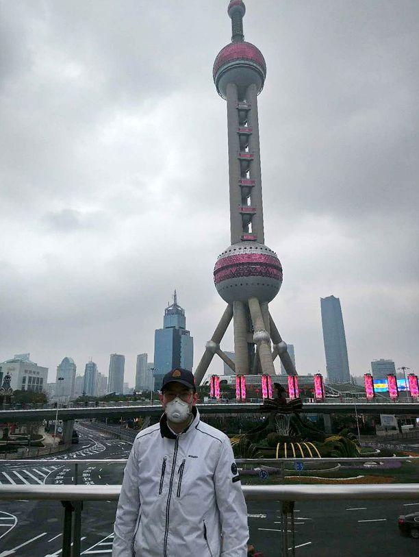 Valtteri Nättiaho on tällä hetkellä Shanghaissa.