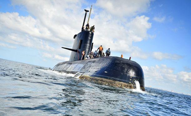 San Juan -sukellusvene katosi noin 500 kilometrin päässä Argentiinan rannikosta.