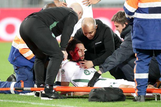Neven Subotic koki kovia eilen Ligue 1:ssä.