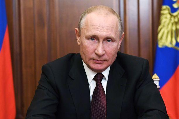Venäjän presidentti Vladimir Putin puhui kansalle tiistaina.
