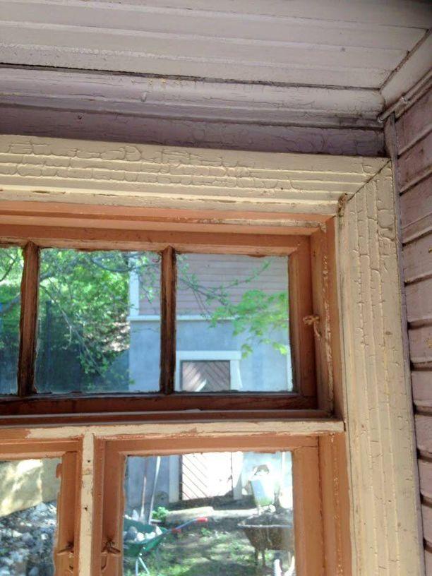 Pinnat olivat ikkunanpokia myöten huonossa kunnossa.
