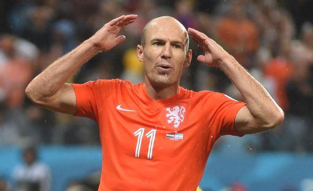 Arjen Robben epäonnistui ratkaisuhetkellä MM-finaalissa neljä vuotta sitten.