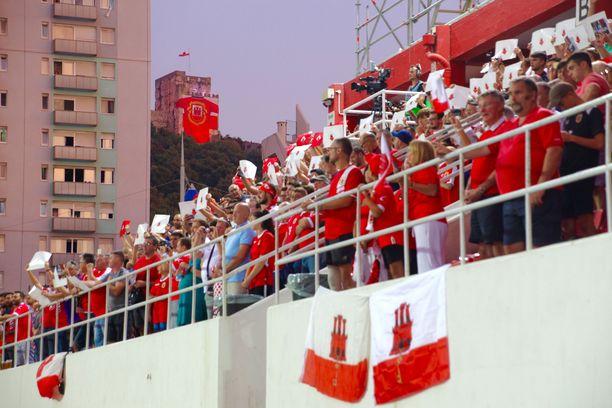 Gibraltarilaisfanit saivat maistaa harvinaista futismenestystä.