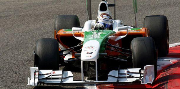 Adrian Sutil on löytänyt vauhdin Monzassa.