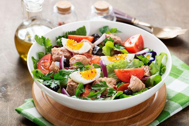 Painolle tekee hyvää kasvisvoittoinen ruoka, jossa on sopivasti myös pehmeää rasvaa.