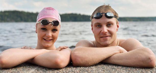 Kun Valtteri Bottas ja Emilia Pikkarainen ovat yhtä aikaa samassa maassa, he treenaavat yhdessä