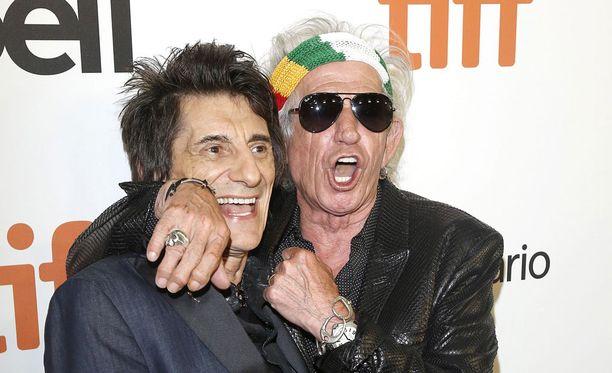 Ronnie Wood ja Keith Richards Toronton kansainvälisillä filmifestivaaleilla syyskuussa.