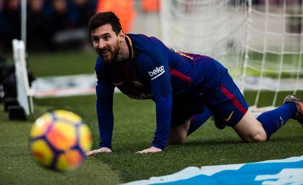 Leo Messi ja Barcelona joutuivat tyytymään tasapeliin.