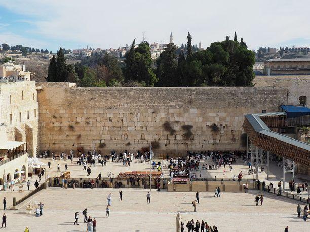 Itkumuuri Jerusalemin vanhassa kaupungissa on riitojen polttopisteenä.
