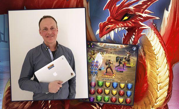 Kuvassa Small Giant Gamesin toimitusjohtaja Timo Soininen.
