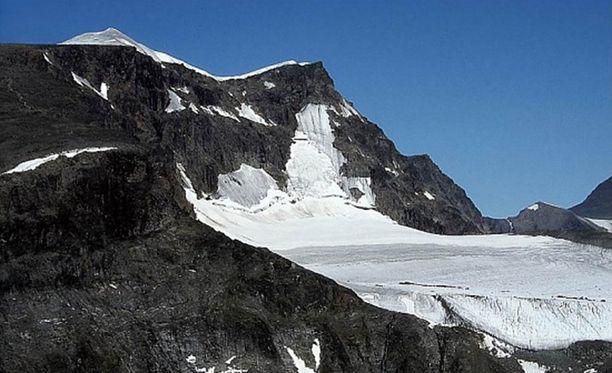 Kebnekaise on Ruotsin korkein tunturi. Sen korkeus on reilut 2 100 metriä.
