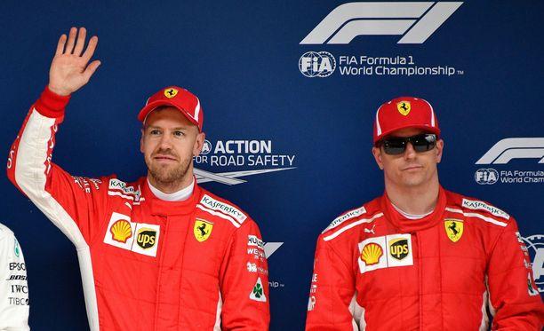 Sebastian Vettelin ja Kimi Räikkösen rateissa on yhden oudon namiskan mittainen ero.