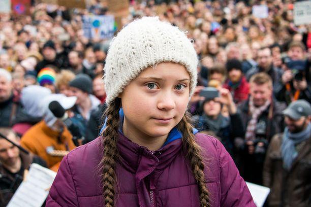 Ruotsalainen ilmastoaktivisti Greta Thunberg maaliskuussa 2019.