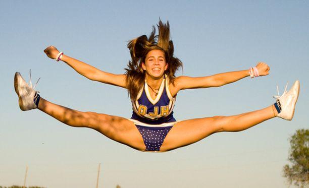 Cheerleadingissä tarvitaan notkeutta. Kuva Yhdysvalloista ei liity USA Today -lehden uutiseen.