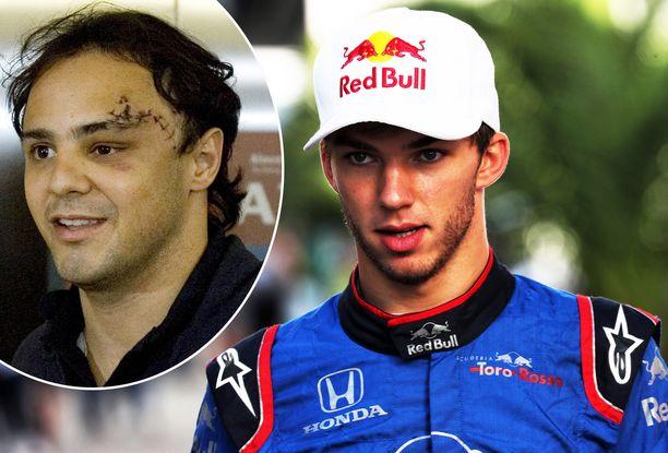 Pierre Gaslyn kauhunhetket muistuttavat Felipe Massan lähes kymmenen vuoden takaista onnettomuutta.