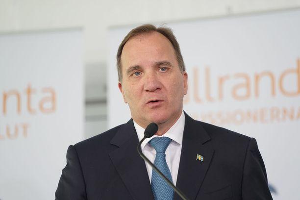 Pääministeri Stefan Löfven.