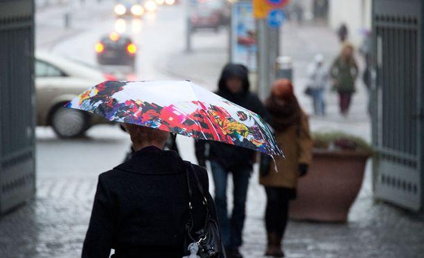 Sateet saapuvat sunnuntaina.