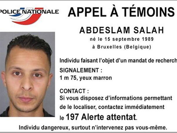 Salah Abdeslamin kasvot tulivat nopeasti tutuksi koko maailmalle, kun hänet tunnistettiin paenneeksi terroristiksi.