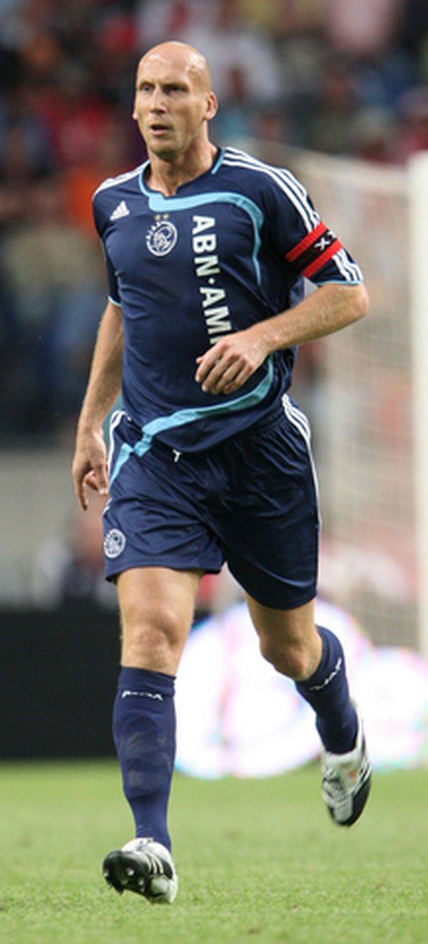 Jaap Stam voitti Mestarien liigan Manchester Unitedin riveissä 1999.