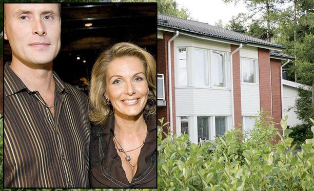 TALO MYYNTIIN. Tanja Karpela ja Janne Erjola muuttivat Espoon omataloon kesällä 2009. Nyt talo on myynnissä.