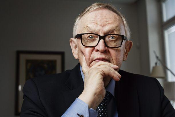 Presidentti, nobelisti Martti Ahtisaari.