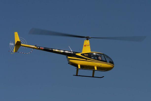 Pudonnut helikopteri oli VG:n mukaan Robinson 44. Kuvituskuva. Kuvan kopteri ei liity tapaukseen.