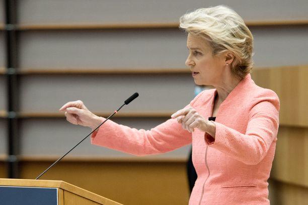 EU-komission puheenjohtaja Ursula von der Leyen piti keskiviikkona ensimmäisen Unionin tila -puheensa.