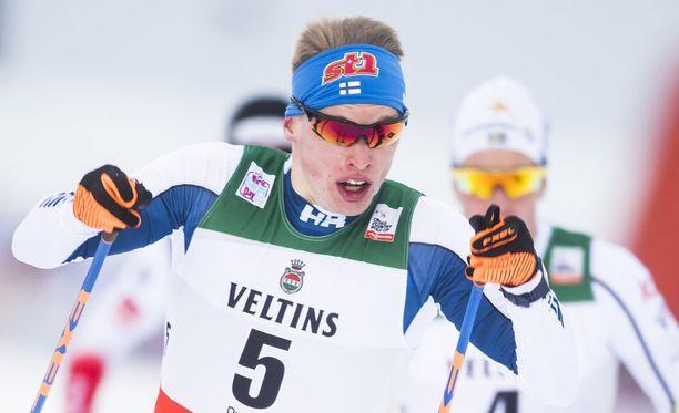 Iivo Niskanen antoi Lillehammerin yhdistelmäkilpailussa lupauksia herättävän näytön olympialaisia ajatellen.