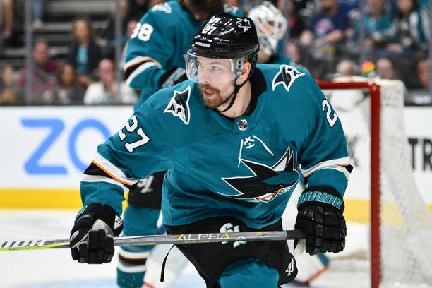 Joonas Donskoi edusti Sharksia neljän kauden ajan.