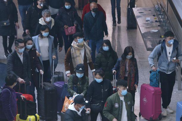 Koronavirus sai alkunsa Hubein maakunnasta Kiinassa. Kuva Wuhanin kaupungista epidemian alkuajoilta tammikuulta.