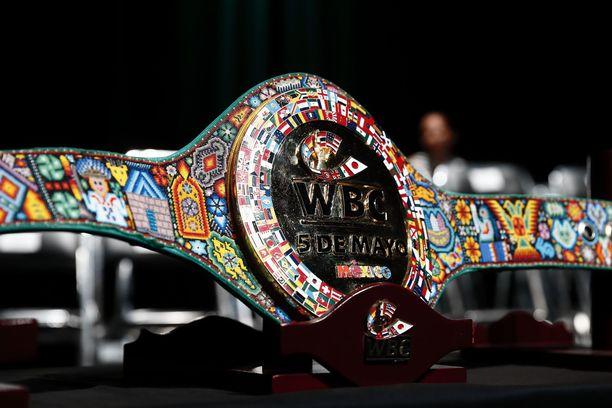 WBC antaa Bridger Walkerille mestaruusvyön. Kuvituskuva.