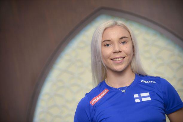 Taika Koilahti debytoi aikuisten MM-tasolla.