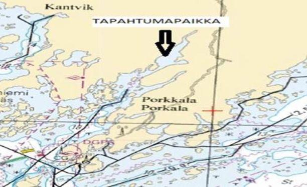 Onnettomuus sattui Kirkkonummen Tavastfjärdenillä.